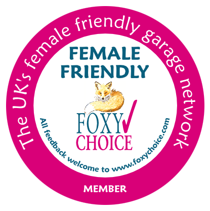 foxy choice female friendly garage logo